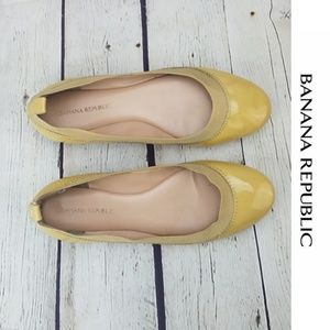 🍌BANANA REPUBLIC🍌 Mustard Yellow Ballet Flats